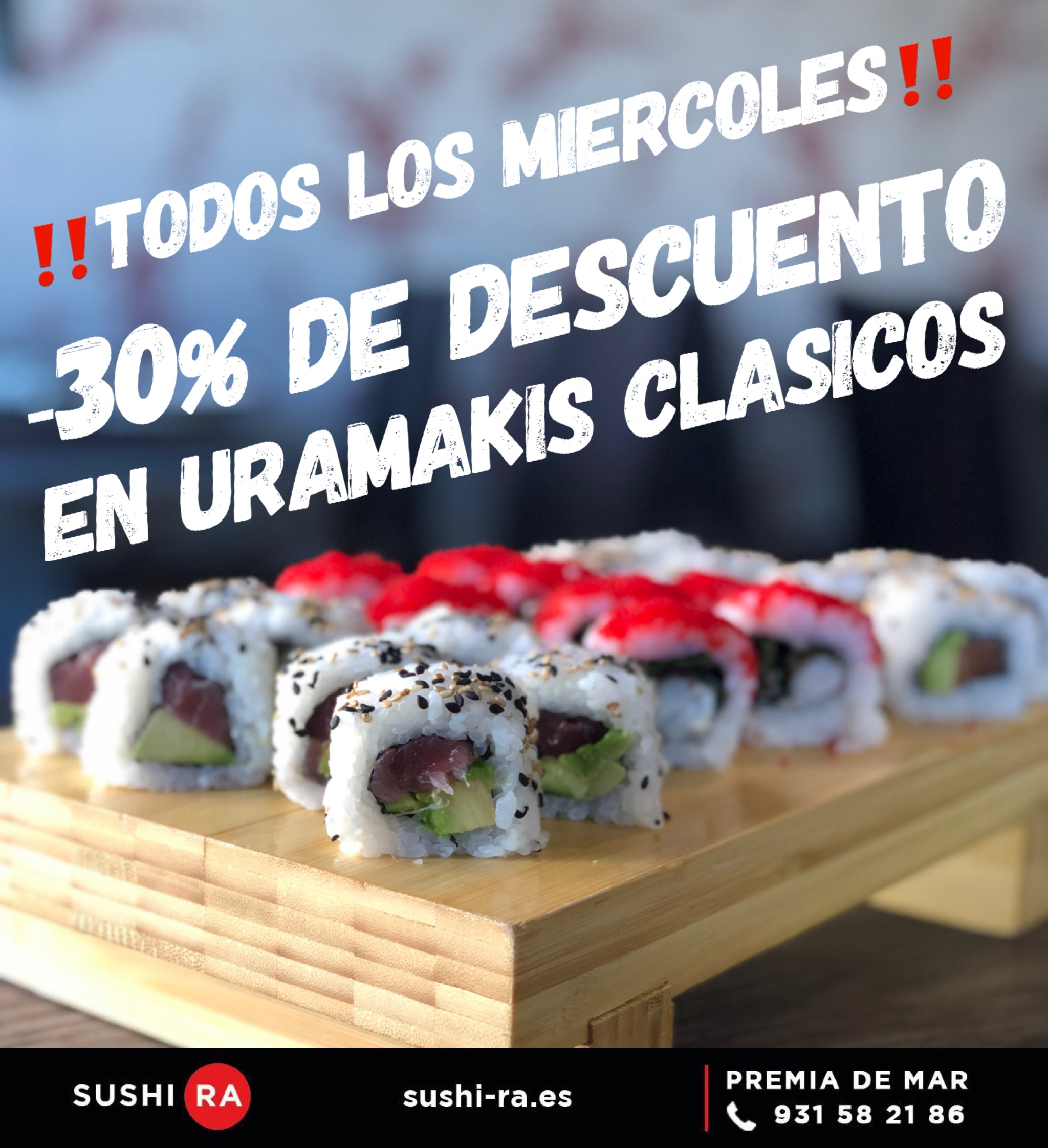 oferta sushi-ra miercoles